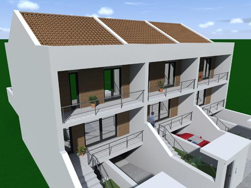 Costruzioni e vendita case a schiera caltanissetta cl for Piani di costruzione casa moderna